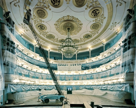 Opera House, Irkutsk, from the series Russia, 2003. Archival pigment print. Available at 30 x 40 inches, edition of 10, or 40 x 50 inches, edition of 5, or 50 x 60 inches, edition of 3, or 70 x 90 inches, edition of 3.