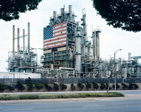 BP Carson Refinery, California, from the seriesAmerican Power, 2003.Chromogenic print, 45 x 58or 70 x 92 inches.