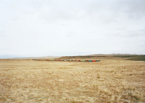 Victoria Sambunaris,Untitled (Container train), South of Delta, Utah,2017. Chromogenic print. Available as 39 x 55 inches or 55 x 75 inches.