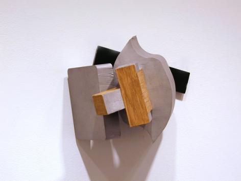 Untitled, 2008, cast aluminum and acrylic paint, 11.5 x 9.5 x 8 inch, unique