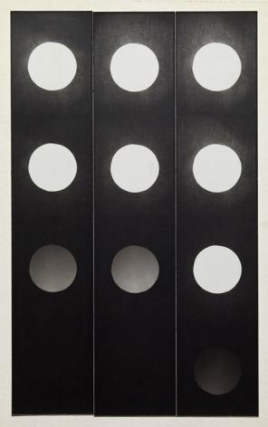 Jared Bark,Untitled, PB #1059,1973. Vintage gelatin silver photobooth prints, 10 1/4 x 7 1/8 inches. Unique.