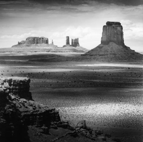 Monument Valley, Arizona, 1987. Gelatin silver print, 16 x 16 inches.