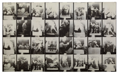 Untitled, PB #1011, 1975. Vintage gelatin silver photobooth prints, 7 7/8 x 12 1/2 inches.