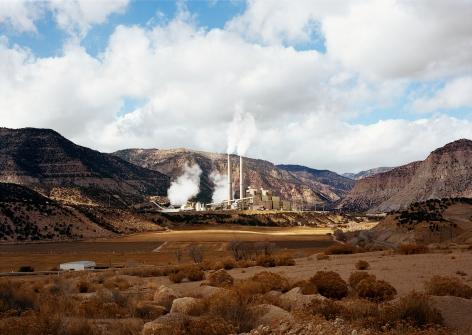 Untitled, (Power plant), Huntington, Utah,2017. Chromogenic print, 39 x 55 inches.