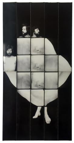 Jared Bark,Untitled, PB #1218,1976. Vintage gelatin silver photobooth prints, 15 3/4 x 7 3/4 inches.Unique.