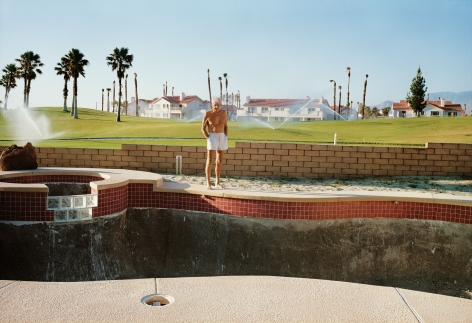 Larry Sultan,Empty Pool, from the series Pictures form Home, 1991. Archival pigment print,27 1/2x 40 inches.