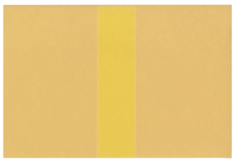 Yellow Stripe, 2019. Construction paper and light, 12 x 9 inches.