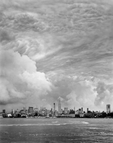 Clouds #33, New York City, from the series Rocks and Clouds. Gelatin silver print, 40 x 30or 68x 54inches.