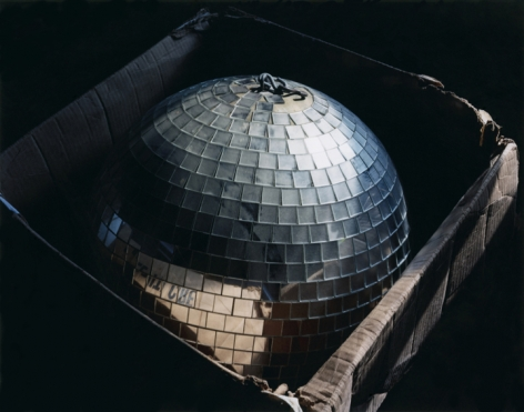 The Party's Over, Disco ball in box, Connecticut, 2008. Archival Pigment Print, Editions of 5. Available Sizes: 20 x 24 inches, 30 x 40 inches, and 40 x 50 inches