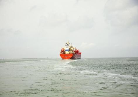 Untitled (LPG Tanker, Navigator Europa, Liberia), Houston Ship Channel, Texas, 2015.