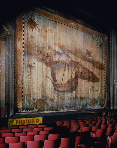Fire Curtain, Liberty Theater, from the series New York, 1996. Archival pigment print. Available at 40 x 30 inches, edition of 10, or 50 x 40 inches, edition of 5, or 60 x 50 inches, edition of 3, or 90 x 70 inches, edition of 3.