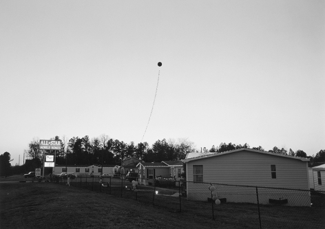 Mark Steinmetz, Athens, GA (Balloon at Dusk), 1995. Gelatin silver print, 20 x 24 inches.