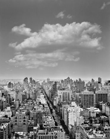 Clouds #5, New York City, from the series Rocks and Clouds, 2014.Gelatin silver print, 40 x 30or 68x 54inches.