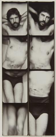 Jared Bark,Untitled, PB #1183, 1975. Vintage gelatin silver photobooth prints, 7 7/8 x 3 1/8 inches.