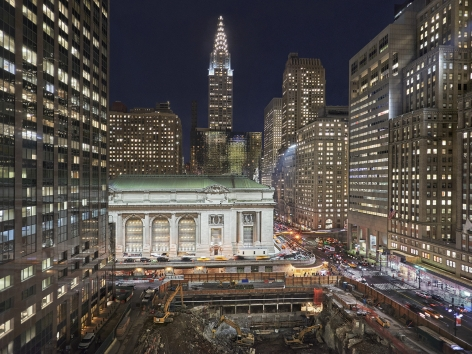 Grand Central Terminal, Western Facade,2017.Archival pigment printavailable in: 20 x 24 inches, edition of 15; 30 x 40 inches, edition 15; and 40 x 50 inches, edition of 5.