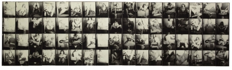 Untitled, PB #1101, 1971. Vintage gelatin silver photobooth prints, 7 7/8 x 26 5/8 inches.