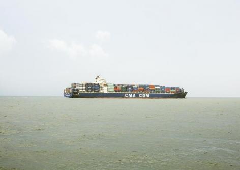 Untitled (Container Ship, CMA CGM Kingfish, Liberia), Houston Ship Channel, Texas, 2016.