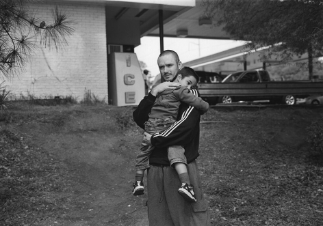 Athens, GA (father and son by gas station) 2007 Gelatin silver print, please inquire for available sizes