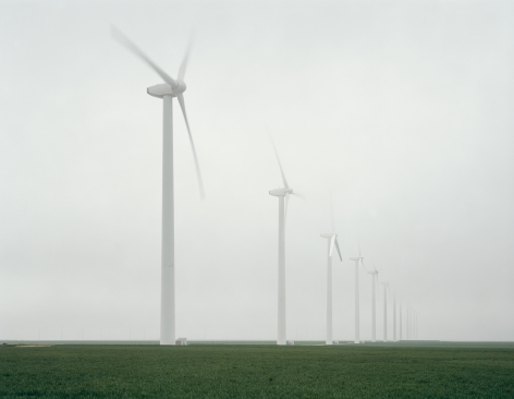 Green Mountain Wind Farm, Fluvana, Texas, from the series American Power, 2005. Chromogenic print, 45 x 58 or 70 x 92 inches.