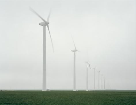 Green Mountain Wind Farm, Fluvana, Texas, from the seriesAmerican Power, 2005.Chromogenic print, 45 x 58or 70 x 92 inches.