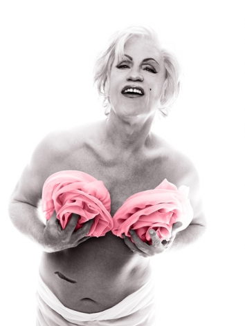 Bert Stern / Marilyn in Pink Roses (from The Last Session, 1962), 2014,Archival pigment print,19 x 14 inches
