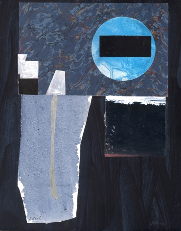 Dorothy Hood  Black Balance, 1982-1997  collage on mat  20 x 16 inches