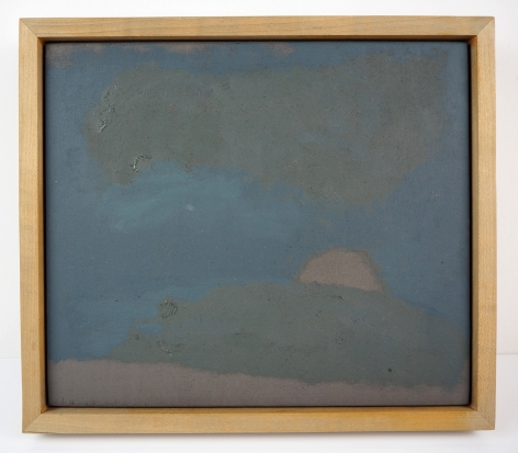 Seth Cameron  Landscape, 2016  oil on board in artist made frame  object: 12 x 10.25 x 1.75 inches  frame: 12 x 10 1/4 x 1 3/4 inches