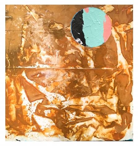 Shane Tolbert  Plaza Blance (Rain), 2016  acrylic on canvas  27.5 x 26 inches