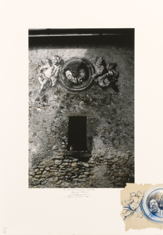 Ernest Pignon-Ernest  Concert Baroque Jimi Hendrix-Chopin, 1982-2007  print  31 1/2 x 22 inches  Edition 16 of 40  $1,500
