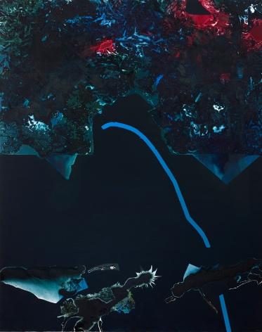 Dorothy Hood  Dark Plexus, 1993  oil on canvas  120 x 96 inches