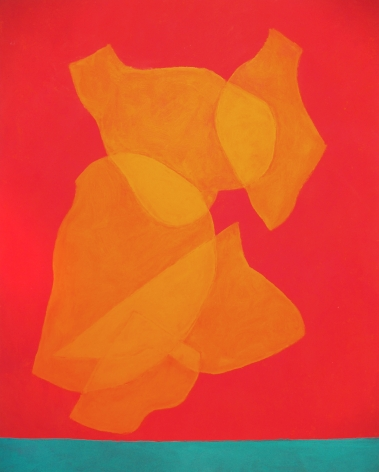 Cleve Gray,  Ascensions #4, 1997,  acrylic on canvas,  70 x 55 inches