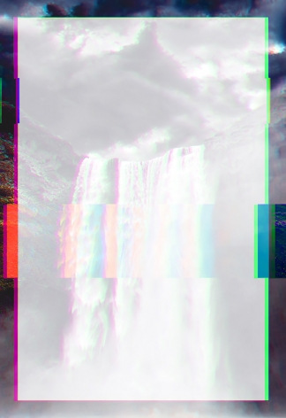 Christian Eckart,   Waterfall 2, 2019,  unique archival digital print on stretched canvas,  62 1/2 x 45 inches