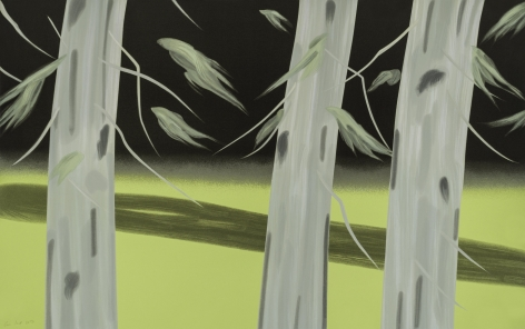 Alex Katz  Three Trees, 2018  20 color silkscreen on Saunders Waterford 425 gsm paper  37 x 59 inches  edition of 60  $14,500