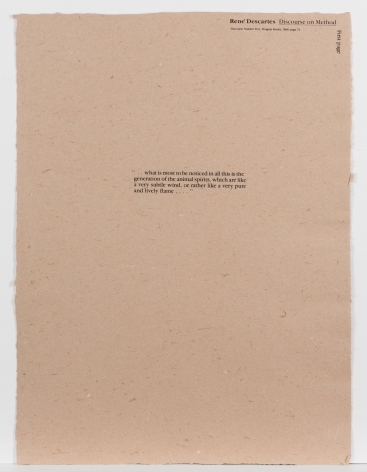 Richard Tuttle  Plastic History (Portfolio), 1990  silkscreen and handmade paper  18 x 24 inches  edition of 50  $12,000