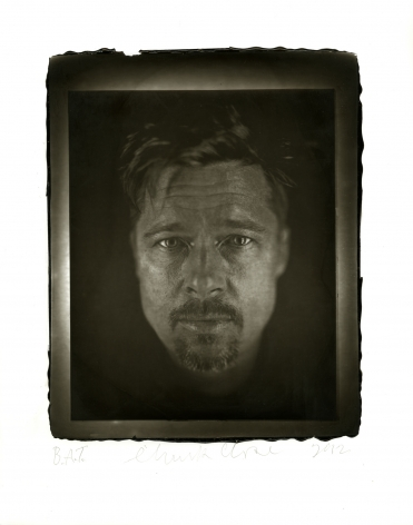 Chuck Close  Brad, 2012  woodburytype  paper: 14 x 11 inches  frame: 16 1/2 x 13 1/2 inches  Edition of 10  $15,000