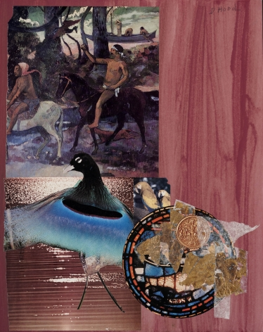 Dorothy Hood  Forest of the Blue Bird, 1982-1997  collage on mat  20 x 16 inches