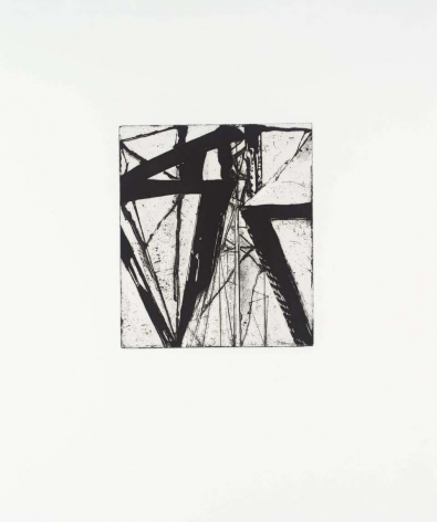 Brice Marden  Etchings to Rexroth #21, 1986  etching and sugarlift aquatint  16 x 19 1/2 inches  Edition AP 1 of 45  $8,000