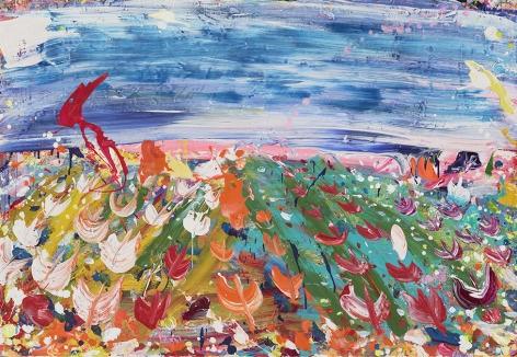 Brendan Cass  Olst, 2008  acrylic on canvas  54 x 78 inches