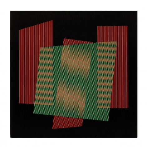 Carlos Cruz-Diez Untitled, 1959 - 1984 serigraph paper: 26.6 x 26.6 inches frame: 29 x 29 inches AP, Edition of 125