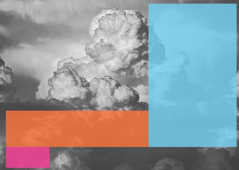Christian Eckart,   A.C.D.C. #3 (Clouds), 2018,  digital print on stretched canvas,  51 x 71 inches