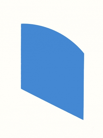 Ellsworth Kelly  Blue, 2003  framed lithograph on wove paper  paper: 28 3/4 x 22 3/8 inches  frame: 30 1/4 x 23 5/8 inches  Edition 19 of 45  Signed and numbered in pencil  $16,000