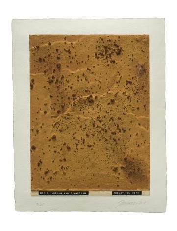 Julião Sarmento  Curiosity's Eye (maria sirenum and cimmerium), 2013  Mixografia® print on handmade paper  18 3/4 x 14 3/4 inches   edition of 25  Publisher: Mixografía  $1,400  Inquire
