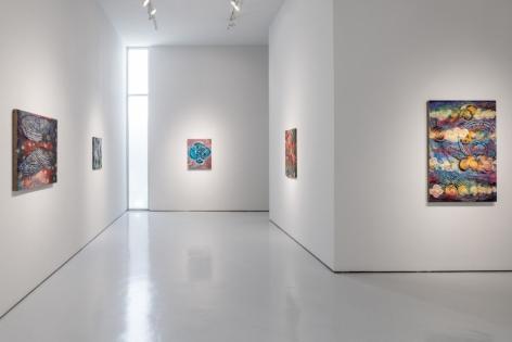 Installation view of Mara Held: Errant Traveler at McClain Gallery, 2017