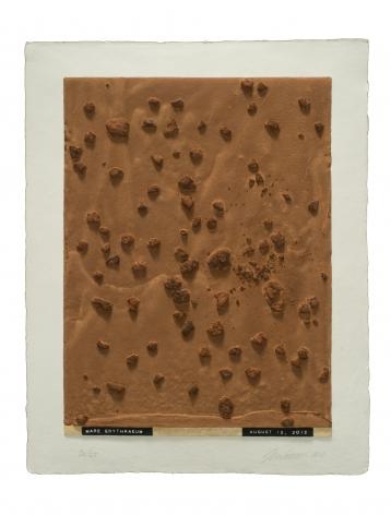 Julião Sarmento  Curiosity's Eye (Mare Erythraeum), 2013  Mixografia® print on handmade paper  18 3/4 x 14 3/4 inches  edition of 25  Publisher: Mixografía  $1,400  Inquire