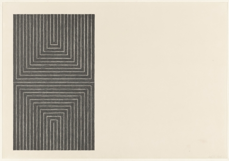 Frank Stella  Black Series I (Suite of 4; shown: Arundel Castle), 1967  set of 4 1-color lithograph  each 15 x 22 inches  edition of 100 $20,000  Inquire