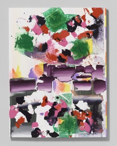Shane Tolbert  Swarm Behavior, Virga Base, 2020  acrylic, pastel on canvas  48 x 36 inches