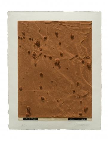 Julião Sarmento  Curiosity's Eye (Syrtis Major), 2013  Mixografia® print on handmade paper  18 3/4 x 14 3/4 inches  edition of 25  Publisher: Mixografía