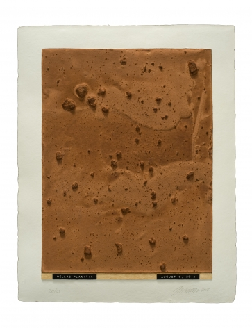 Julião Sarmento  Curiosity's Eye (Hellas Planitia), 2013  Mixografia® print on handmade paper  18 3/4 x 14 3/4 inches   edition of 25  Publisher: Mixografía  $1,400