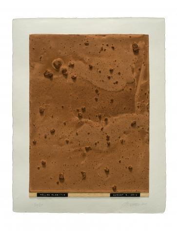 Julião Sarmento  Curiosity's Eye (Hellas Planitia), 2013  Mixografia® print on handmade paper  18 3/4 x 14 3/4 inches   edition of 25  Publisher: Mixografía  $1,400
