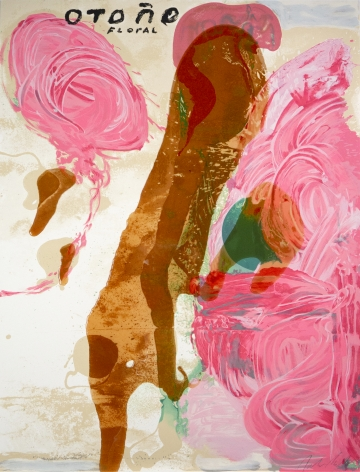 Julian Schnabel  Sexual Spring-Like Winter - Otono, 1995  hand painted, 15 color silkscreen with poured resin  40 x 30 inches  edition of 80  Publisher: Lococo FIne Art Publisher  $9,000  Inquire